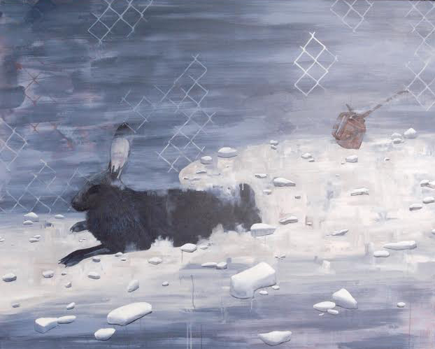 rabbit painting by Jessica Holmes
